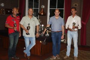 Finalisten 2016 v.l.n.r. Leopold de Moor (3e plaats), Sjeng Schaefer (2e plaats), Ben Hendrickx (kampioen) en Jos Weijnen (3e plaats)